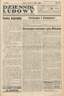 Dziennik Ludowy : organ Polskiej Partij Socjalistycznej. 1932, nr275