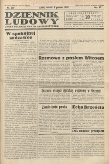 Dziennik Ludowy : organ Polskiej Partij Socjalistycznej. 1932, nr279