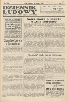 Dziennik Ludowy : organ Polskiej Partij Socjalistycznej. 1932, nr289