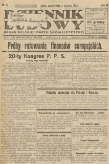 Dziennik Ludowy : organ Polskiej Partji Socjalistycznej. 1926, nr3
