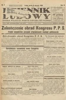 Dziennik Ludowy : organ Polskiej Partji Socjalistycznej. 1926, nr4