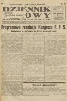 Dziennik Ludowy : organ Polskiej Partji Socjalistycznej. 1926, nr5