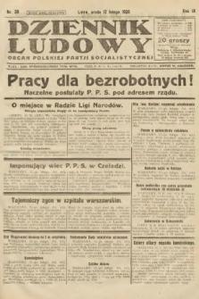 Dziennik Ludowy : organ Polskiej Partji Socjalistycznej. 1926, nr38