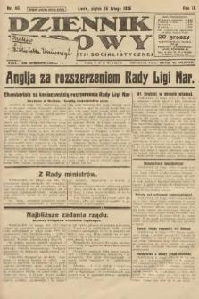 Dziennik Ludowy : organ Polskiej Partji Socjalistycznej. 1926, nr46