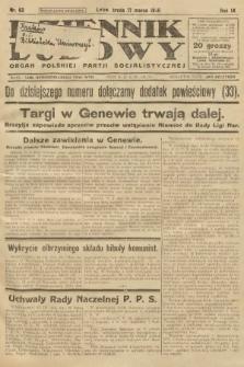 Dziennik Ludowy : organ Polskiej Partji Socjalistycznej. 1926, nr62