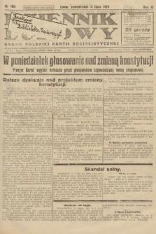 Dziennik Ludowy : organ Polskiej Partji Socjalistycznej. 1926, nr166