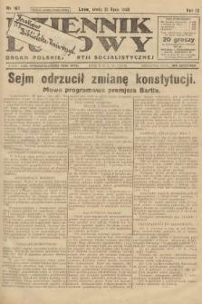 Dziennik Ludowy : organ Polskiej Partji Socjalistycznej. 1926, nr167