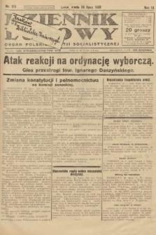 Dziennik Ludowy : organ Polskiej Partji Socjalistycznej. 1926, nr173