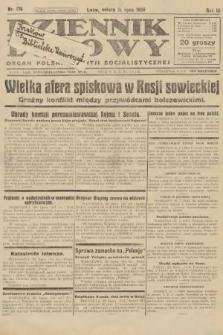 Dziennik Ludowy : organ Polskiej Partji Socjalistycznej. 1926, nr176