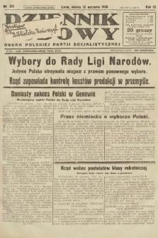 Dziennik Ludowy : organ Polskiej Partji Socjalistycznej. 1926, nr218