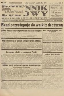 Dziennik Ludowy : organ Polskiej Partji Socjalistycznej. 1926, nr234