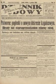 Dziennik Ludowy : organ Polskiej Partji Socjalistycznej. 1926, nr283