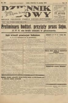 Dziennik Ludowy : organ Polskiej Partji Socjalistycznej. 1926, nr292