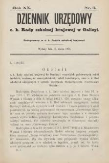 Dziennik Urzędowy C. K. Rady Szkolnej Krajowej w Galicyi. 1916, nr3