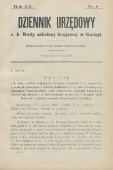 Dziennik Urzędowy C. K. Rady Szkolnej Krajowej w Galicyi. 1916, nr6