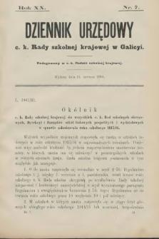 Dziennik Urzędowy C. K. Rady Szkolnej Krajowej w Galicyi. 1916, nr7