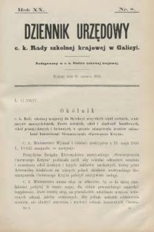 Dziennik Urzędowy C. K. Rady Szkolnej Krajowej w Galicyi. 1916, nr8