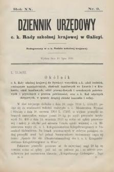 Dziennik Urzędowy C. K. Rady Szkolnej Krajowej w Galicyi. 1916, nr9
