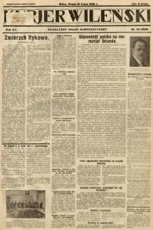 Kurjer Wileński : niezależny organ demokratyczny. 1930, nr161