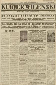 Kurjer Wileński : niezależny organ demokratyczny. 1930, nr277