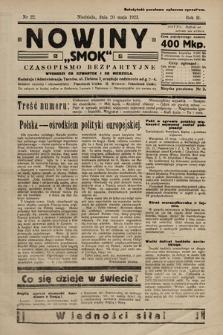 """Nowiny """"Smok"""" : czasopismo bezpartyjne. 1923, nr22"""