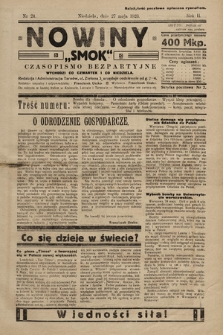 """Nowiny """"Smok"""" : czasopismo bezpartyjne. 1923, nr24"""