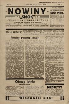 """Nowiny """"Smok"""" : czasopismo bezpartyjne. 1923, nr27"""