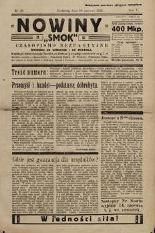 """Nowiny """"Smok"""" : czasopismo bezpartyjne. 1923, nr28"""