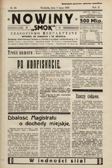 """Nowiny """"Smok"""" : czasopismo bezpartyjne. 1923, nr36"""