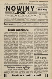 """Nowiny """"Smok"""" : czasopismo bezpartyjne. 1923, nr38"""
