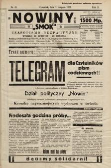 """Nowiny """"Smok"""" : czasopismo bezpartyjne. 1923, nr45"""