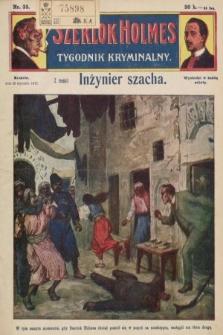 Szerlok Holmes : tygodnik kryminalny. 1910, nr35