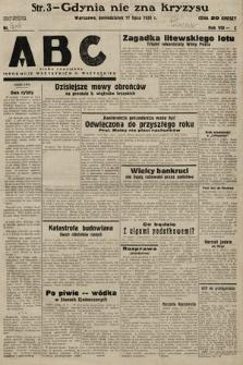 ABC : pismo codzienne : informuje wszystkich o wszystkiem. 1933, nr203