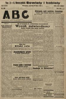 ABC : pismo codzienne : informuje wszystkich o wszystkiem. 1933, nr206