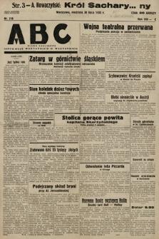 ABC : pismo codzienne : informuje wszystkich o wszystkiem. 1933, nr218
