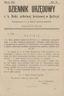 Dziennik Urzędowy C. K. Rady Szkolnej Krajowej w Galicyi. 1907, nr7