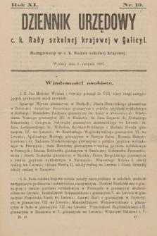 Dziennik Urzędowy C. K. Rady Szkolnej Krajowej w Galicyi. 1907, nr19