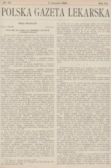 Polska Gazeta Lekarska. 1928, nr32