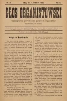 Głos Organistowski : czasopismo poświęcone sprawom organistów. 1905, nr10
