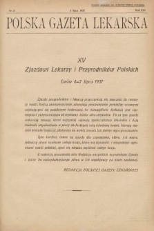 Polska Gazeta Lekarska. 1937, nr27
