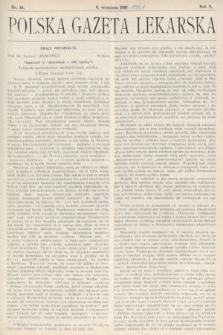 Polska Gazeta Lekarska : dawniej Gazeta Lekarska, Przegląd Lekarski oraz Czasopismo Lekarskie i Lwowski Tygodnik Lekarski. 1931, nr36