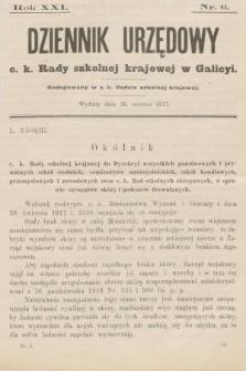 Dziennik Urzędowy c. k. Rady szkolnej krajowej w Galicyi. 1917, nr6