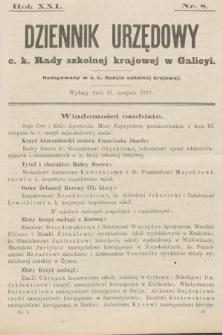 Dziennik Urzędowy c. k. Rady szkolnej krajowej w Galicyi. 1917, nr8