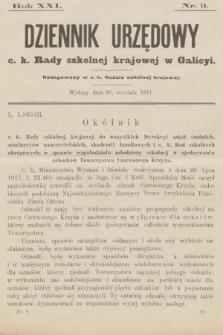 Dziennik Urzędowy c. k. Rady szkolnej krajowej w Galicyi. 1917, nr9