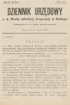 Dziennik Urzędowy c. k. Rady szkolnej krajowej w Galicyi. 1917, nr11