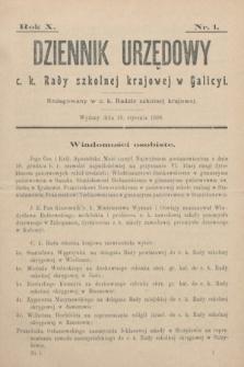 Dziennik Urzędowy c. k. Rady szkolnej krajowej w Galicyi. 1906, nr1