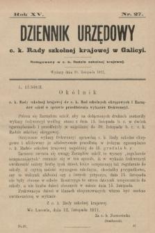 Dziennik Urzędowy c. k. Rady szkolnej krajowej w Galicyi. 1911, nr27