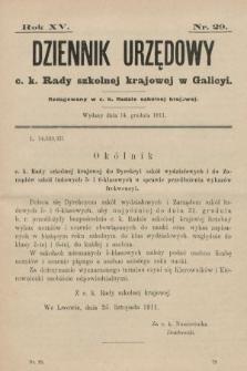 Dziennik Urzędowy c. k. Rady szkolnej krajowej w Galicyi. 1911, nr29