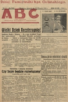 ABC : pismo codzienne : informuje wszystkich o wszystkiem. 1926, nr7