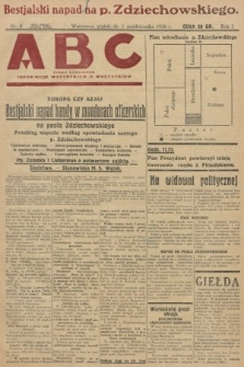 ABC : pismo codzienne : informuje wszystkich o wszystkiem. 1926, nr8